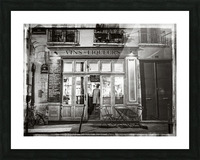 Cafe on street of Montmartre, Paris Picture Frame print