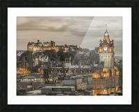 Edinburgh Castle and The Balmoral Hotel, Scotland Picture Frame print