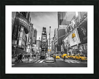 Traffic signal on broadway Times Square,  Manhattan, New York City Picture Frame print