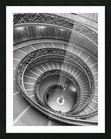 Spiral staircase at the Vatican museum, Rome, Italy Picture Frame print