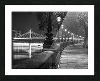London Riverside Promenade with Albert Bridge Picture Frame print