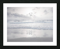Tranquil beach with cloudscapes Picture Frame print