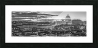 Vatican city with St. Peters Basilica, Rome, Italy Picture Frame print
