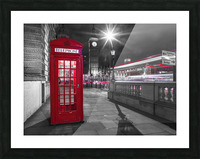 Telephone box with Big Ben, London, Uk Picture Frame print