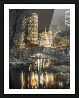 Evening view of Central Park in New York City Picture Frame print
