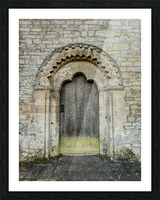 Front door of old cottage in Bibury,  Cotswold, UK Picture Frame print