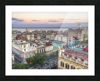 Havana from above Picture Frame print
