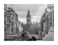 Trafalgar Square with Big Ben in background Picture Frame print