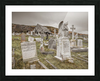 Cemetery in Llandudno, North Wales Picture Frame print
