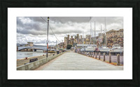 Conwy harbour, North Wales coast Picture Frame print