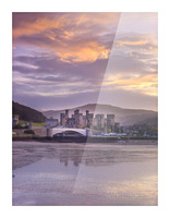 Conwy castle, North Wales coast Picture Frame print