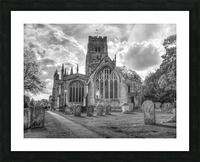 Old church in Northleach town, Cotswolds, UK Picture Frame print