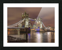 Tower bridge at night, London Picture Frame print