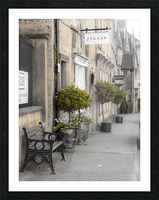 Old buildings in Tetbury town, Cotswolds Picture Frame print
