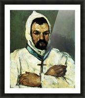 Portrait of Uncle Dominique as a monk by Cezanne Picture Frame print