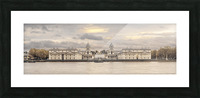 Royal Naval College at Greenwich with a view from the River Thames Picture Frame print