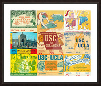 USC Trojans Football Ticket Stub Collage Picture Frame print