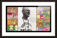 Oklahoma Football Bud Wilkinson Ticket Collage Picture Frame print