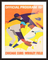 1967 Chicago Cubs Program Picture Frame print