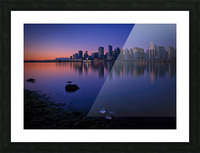 Vancouver Skyline Picture Frame print