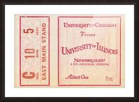 1927 Chicago vs. Illinois  Picture Frame print