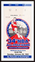 1984 NBA All-Star Game Ticket Picture Frame print