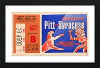1965 Syracuse vs. Pittsburgh Picture Frame print