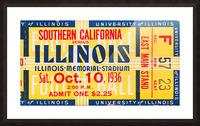 1936 USC vs. Illinois Picture Frame print