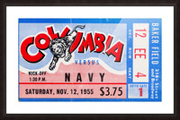 1955 Columbia vs. Navy Picture Frame print