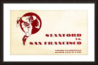 1933 Stanford vs. San Francisco American Football Picture Frame print