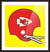 1982 Kansas City Chiefs Helmet Art Picture Frame print