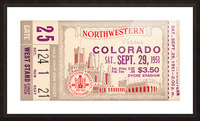 1951 Northwestern vs. Colorado Picture Frame print