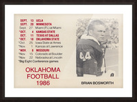1986 Oklahoma Football Brian Bosworth Picture Frame print