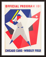 1964 Chicago Cubs Scorecard Wall Art Picture Frame print