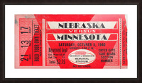 1940 Nebraska vs. Minnesota Picture Frame print