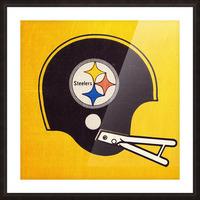 Vintage Pittsburgh Steelers Football Helmet Art Picture Frame print