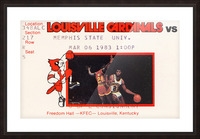 1983 Memphis State vs. Louisville Picture Frame print
