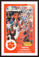 1988 Clemson Tigers Eldon Campbell Picture Frame print