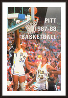 1987 Pitt Panthers Basketball Picture Frame print