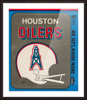 1981 Houston Oilers Helmet Picture Frame print