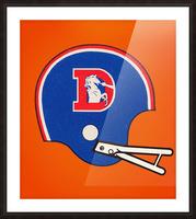 1982 Denver Broncos Football Helmet Art Picture Frame print