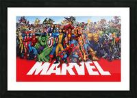 M-arvel squad Picture Frame print
