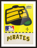 1981 Pittsburgh Pirate Fleer Decal Art Picture Frame print