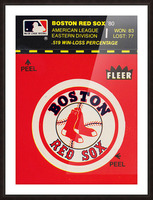 1981 Boston Red Sox Fleer Decal Art Picture Frame print
