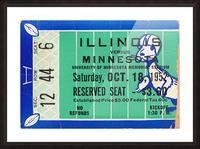 1952 Minnesota vs. Illinois Picture Frame print