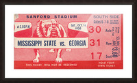 1950 Mississippi State vs. Georgia Picture Frame print