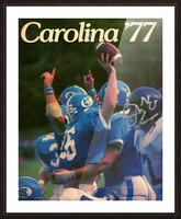 1977 Carolina Football Picture Frame print