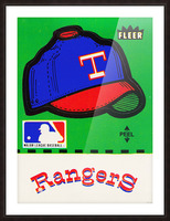 1981 Texas Rangers Decal Art Picture Frame print