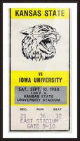 1988 Kansas State vs. Iowa Picture Frame print