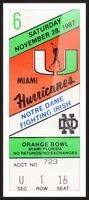 1987 Miami vs. Notre Dame Picture Frame print